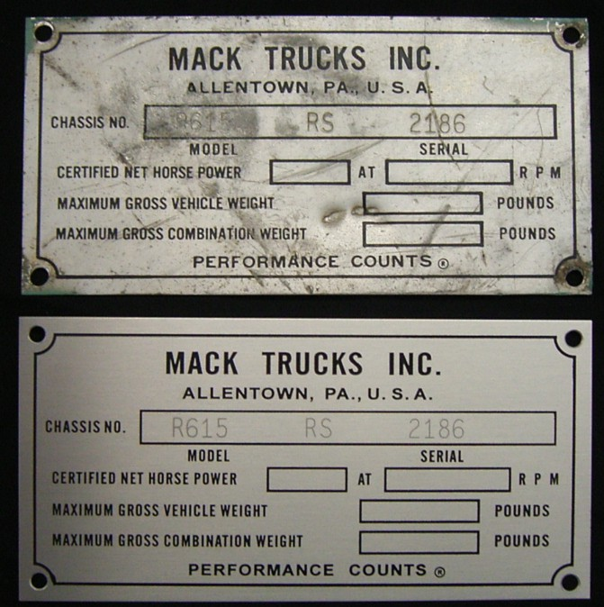 Reproduced Compliance Plate