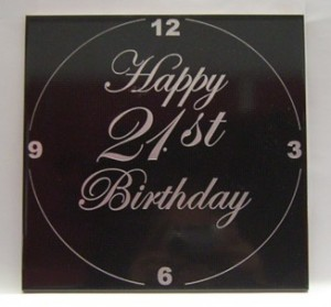 Clock face made from a 300mm square ceramic tile